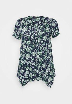 AZTEC PINTUCK TOP - T-shirts med print - navy
