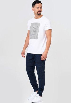 DENNIS - Cargo trousers - navy