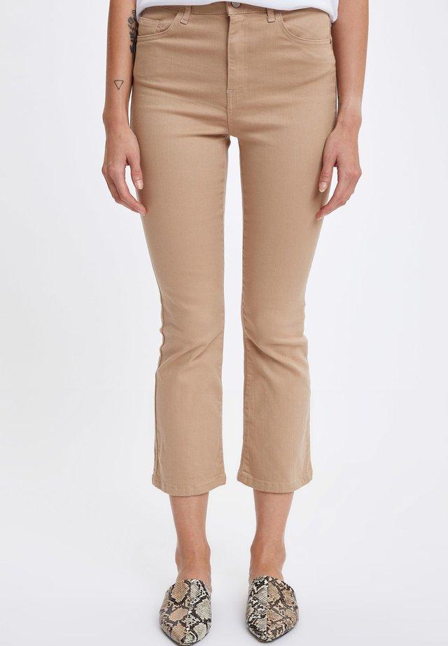 Jeans bootcut - Beige
