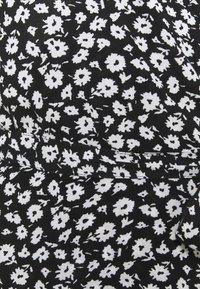 American Eagle - RUFFLE WRAP DRESS - Maxi dress - black - 2