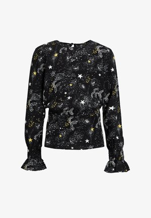 MET DESSIN EN GESMOKTE DETAILS - Blouse - all-over print