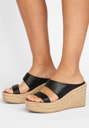 High heeled sandals - black blk