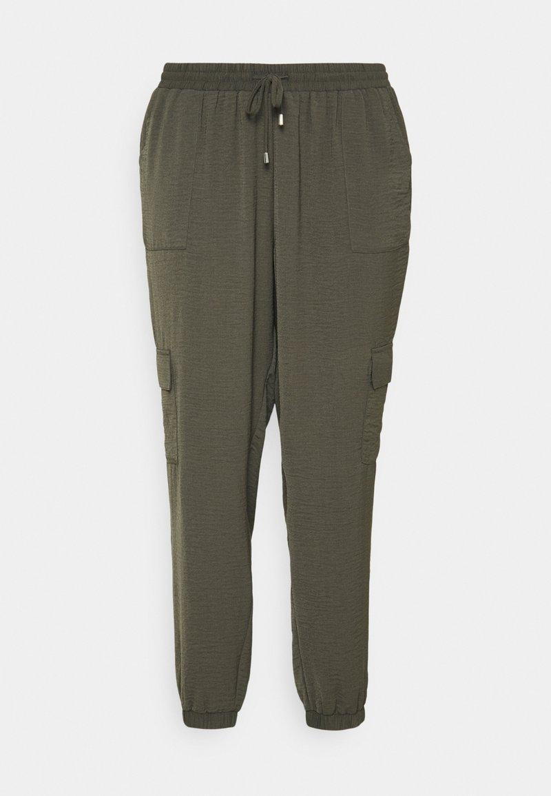 Zizzi - CAJOY LONG PANT - Trousers - black olive