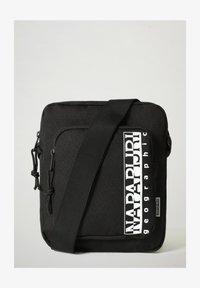 Napapijri - HAPPY CROSS POCKET - Across body bag - black - 1
