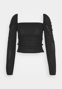 Nly by Nelly - SHEER TOUCH TOP - Long sleeved top - black - 3