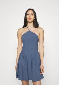 Fashion Union - ROMA DRESS - Day dress - blue - 0