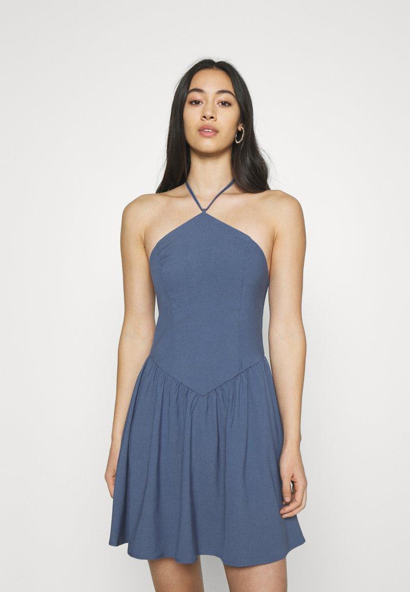 Fashion Union - ROMA DRESS - Day dress - blue