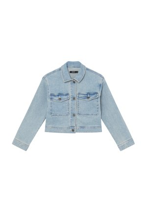 NLFTEM SHORT JACKET - Chaqueta vaquera - light blue denim