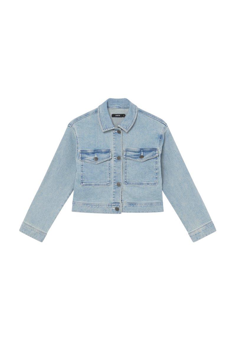 LMTD - NLFTEM SHORT JACKET - Denim jacket - light blue denim