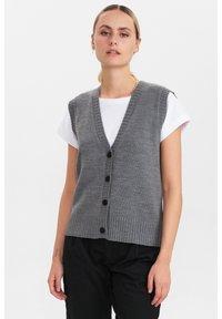 Nümph - Waistcoat - medium grey mel - 1