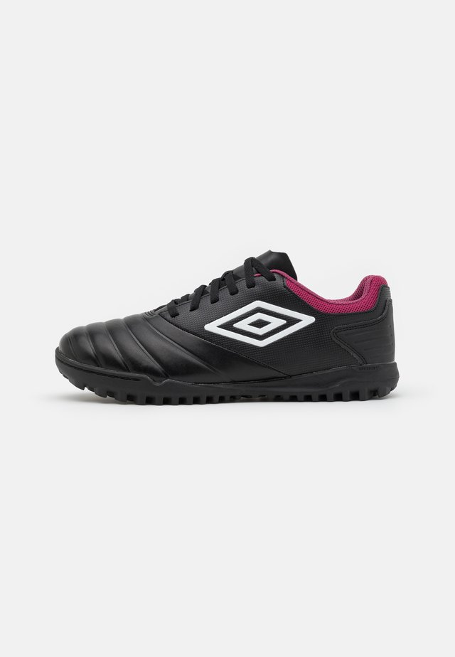 TOCCO CLUB TF - Astro turf trainers - black/white/raspberry radiance/pink peacock