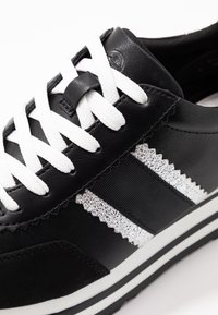 Tamaris - LACE UP - Trainers - black/silver - 2