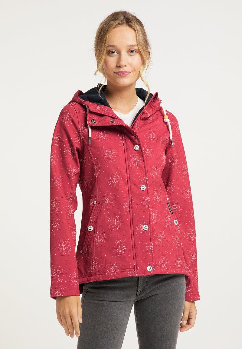 Schmuddelwedda - Outdoor jacket - rot aop