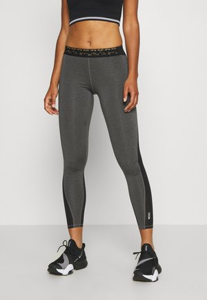 ONPJYNX TRAINING - Leggings - dark grey melange/black/white gold