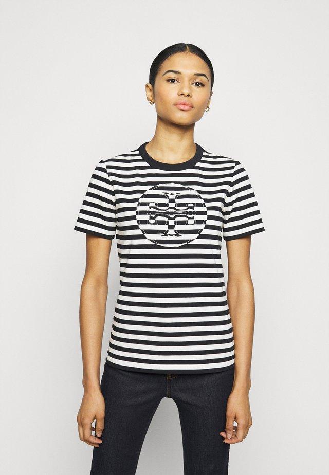 STRIPED LOGO  - Print T-shirt - black
