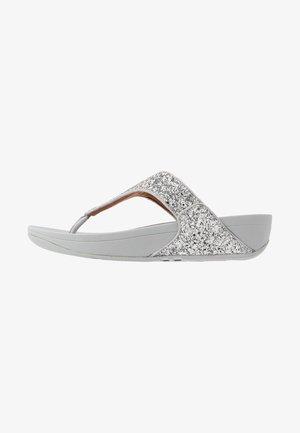 LULU GLITTER TOE THONGS - T-bar sandals - silver