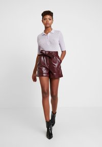 Topshop - CROC - Shorts - bordeaux - 1