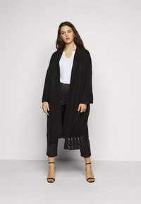 Pieces Curve - PCROW COATIGAN - Cardigan - black