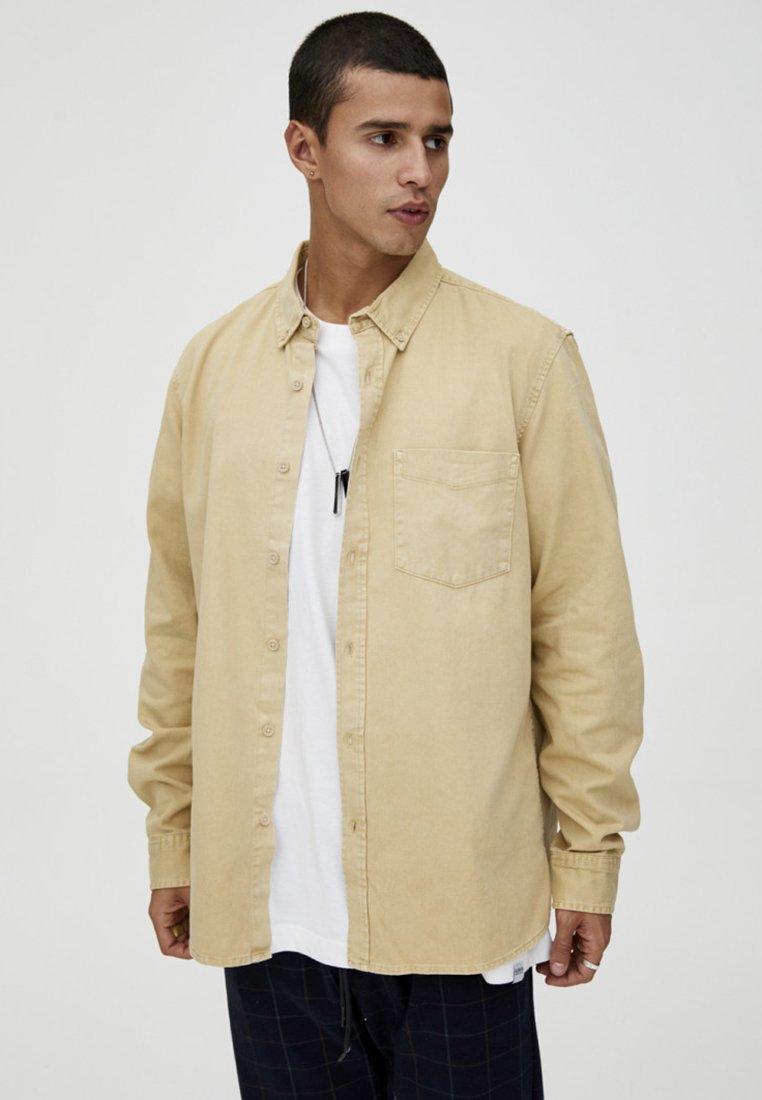 PULL&BEAR - MIT LANGEN ÄRMELN - Shirt - brown