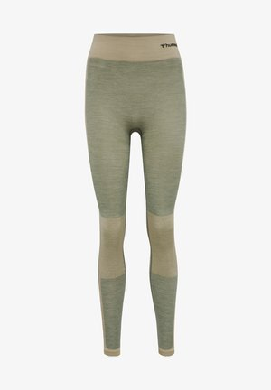 SEAMLESS - Leggings - vetiver melange