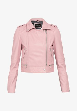 PERFECTO - Leather jacket - rose
