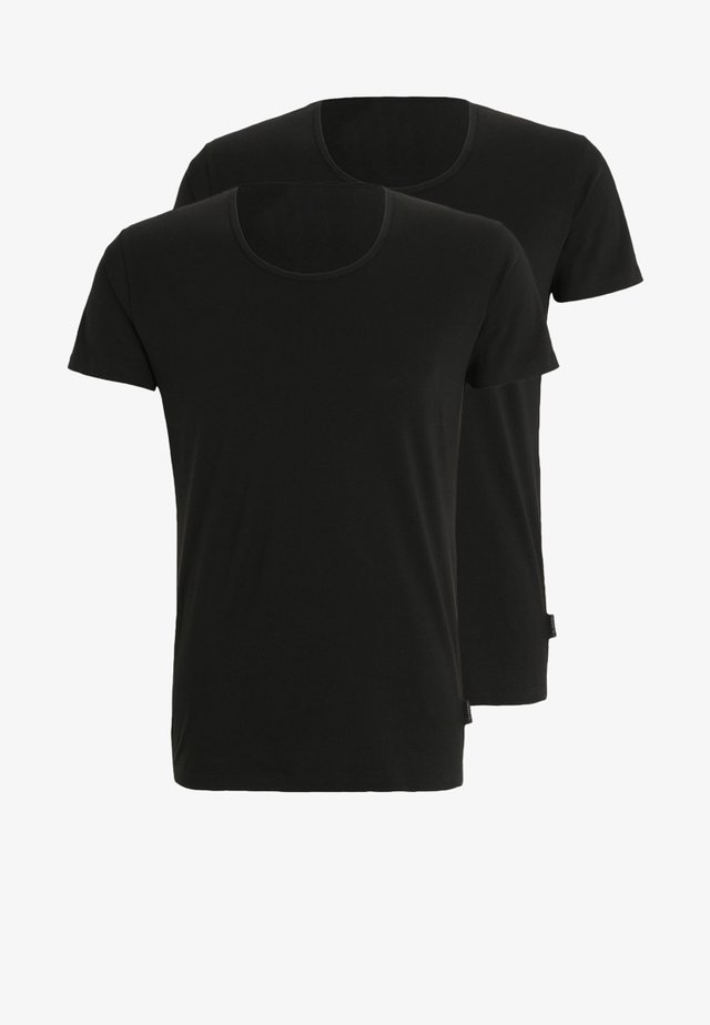 24/7 O-NECK 2 PACK - Undershirt - black