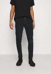 Nudie Jeans - LEAN DEAN - Džíny Slim Fit - black skies - 0
