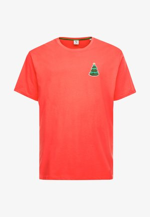 CHRISTMAS APPLICATION TEE  - T-shirt imprimé - red