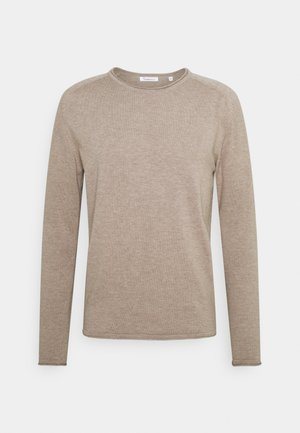 FORREST ROLL EDGE LONG STABLE RAGLAN - Neule - light feather gray