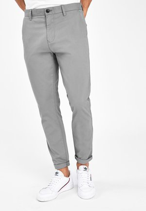 BURNT ORANGE SKINNY FIT STRETCH CHINOS - Chino kalhoty - grey
