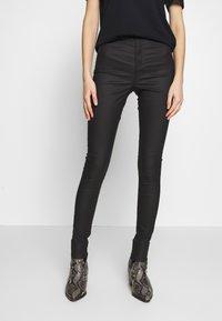 Topshop - COATED JONI - Jeans Skinny Fit - black - 0