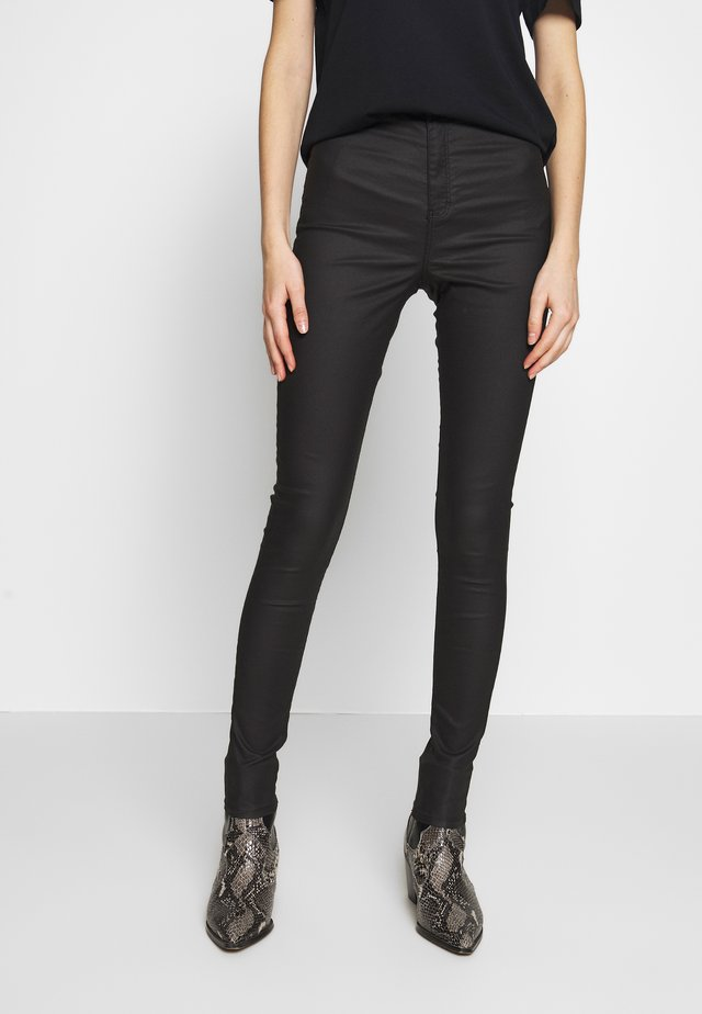COATED JONI - Jeansy Skinny Fit - black