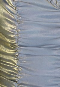 Glamorous Petite - LADIES DRESS METALLIC - Cocktail dress / Party dress - blue/gold - 2