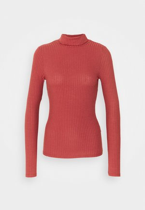 ROLL NECK - Long sleeved top - rust
