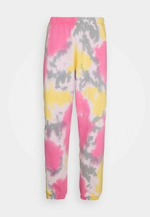 SUSTAINABLE TIE DYE - Tracksuit bottoms - yellow/multi