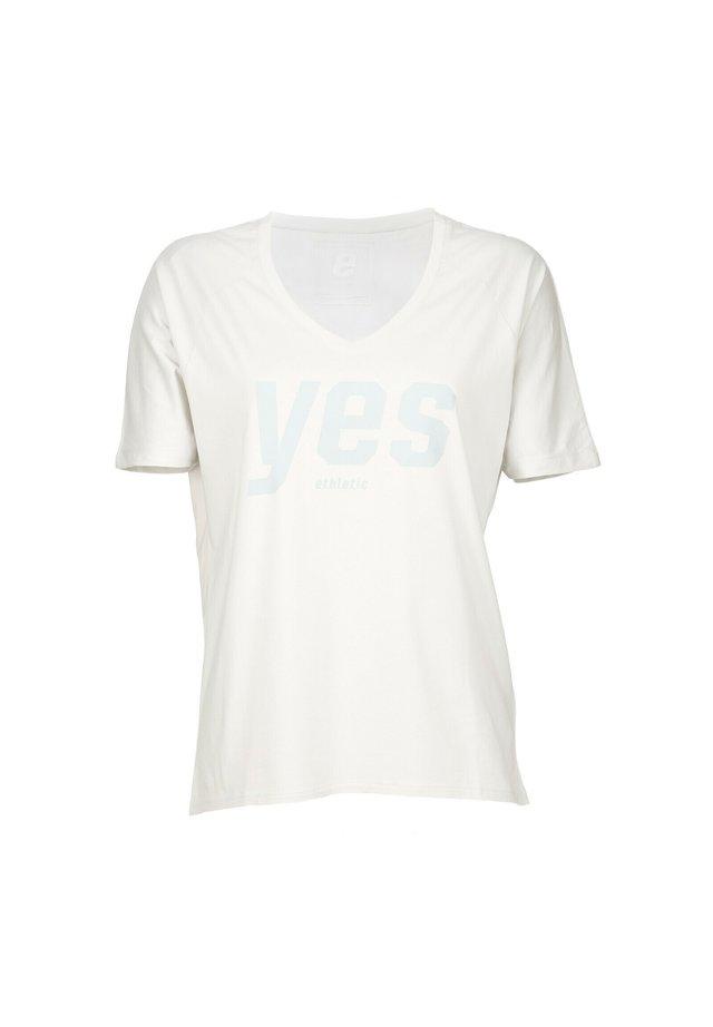 YES - T-shirt print - light grey