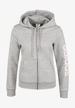 Zip-up hoodie - mid grey heather / pinkt tint