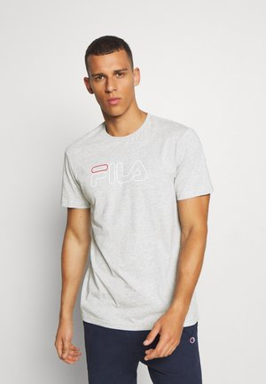 PAUL - Print T-shirt - light grey melange bros