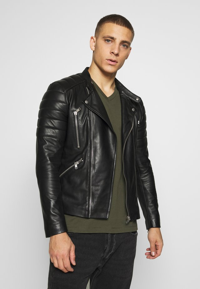 GLADIATOR - Leather jacket - black