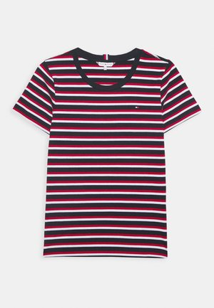 ESSENTIAL ROUND - Print T-shirt - ombre/primary red