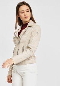 Gipsy - PGG LABAGV - Leather jacket - off white - 0