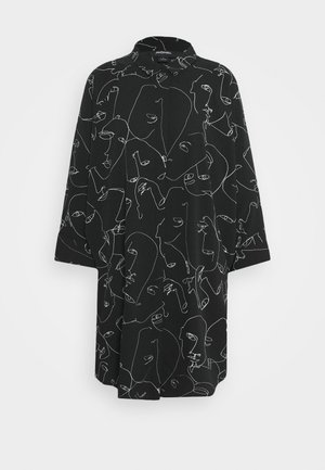 MOA RAGLAN - Shirt dress - black dark