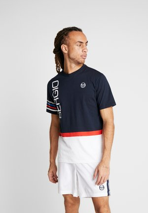 DENNIS - T-shirt imprimé - navy/white