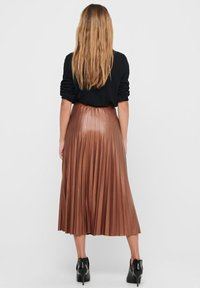 ONLY - PLISSEE - A-line skirt - ginger bread - 2