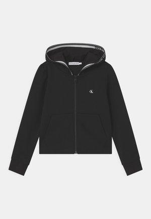 INTARSIA ZIP HOODIE - Vest - black