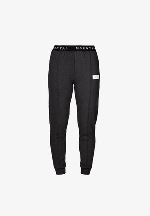 CROPPED PLEAT  - Tracksuit bottoms - dunkelgrau