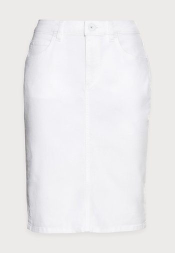 DENIM SKIRT - Denim skirt - white
