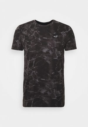 Print T-shirt - black wash
