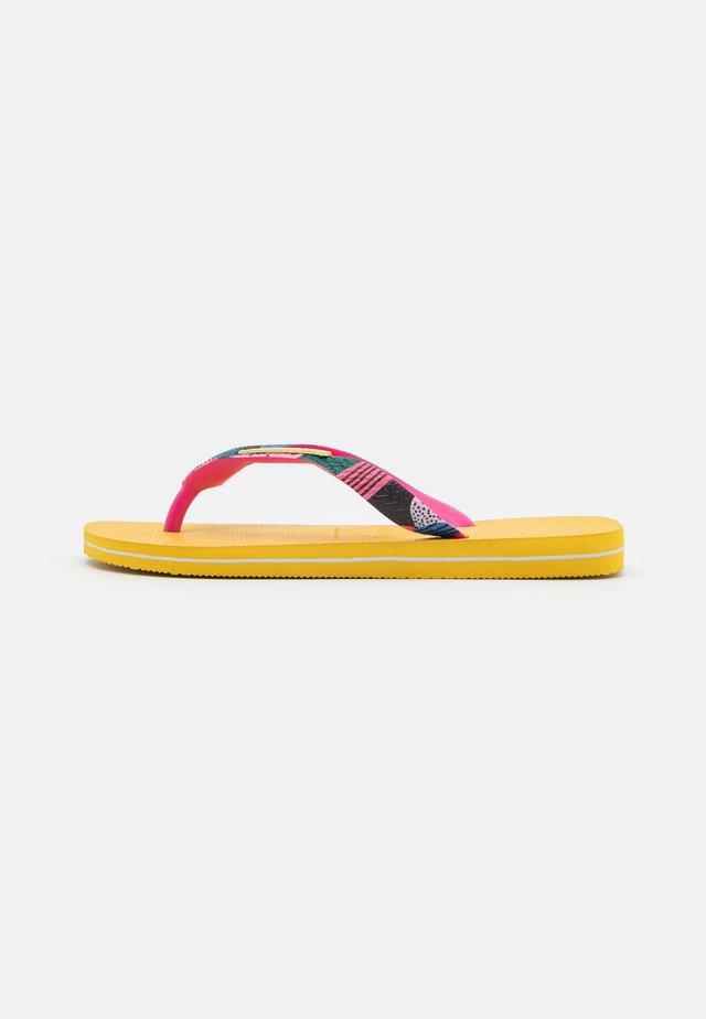 TOP VERANO - Japonki kąpielowe - gold yellow