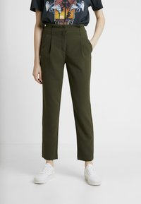 ONLY - ONLRUNA LILI BELT PANT - Kalhoty - forest night - 0